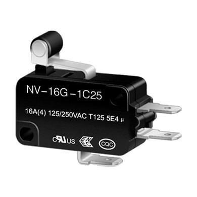 NV-16G1 short roller lever snap action switch
